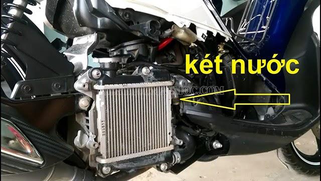 Hệ thống làm mát xe máy bị hỏng có thể là nguyên nhân xe bị nóng máy