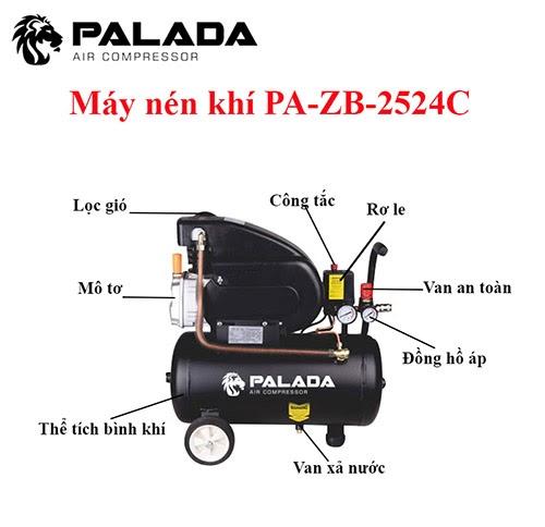 Cấu tạo của máy nén khí Palada ZB- 2524C
