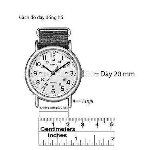 Size đồng hồ và chiều rộng khoảng cách giữa 2 lugs
