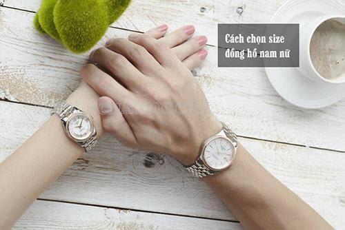 Size đồng hồ của nam và nữ theo quy chuẩn
