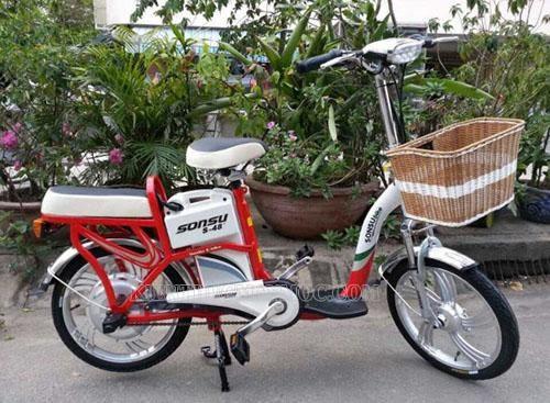 Xe đạp điện Sonsu A có thiết kế gọn gàng