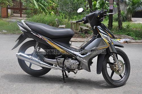 Xe máy Suzuki Revo sở hữu kiểu dáng khỏe khoắn