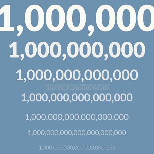 1 tỷ sẽ có 1 chữ số 1 và 9 chữ số 0