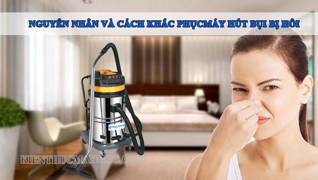 máy hút mùi có mùi khó chịu