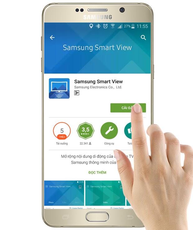 Cài đặt điều khiển Samsung bằng điện thoại