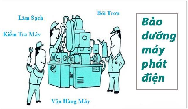 quy trình bảo dưỡng máy phát điện diesel