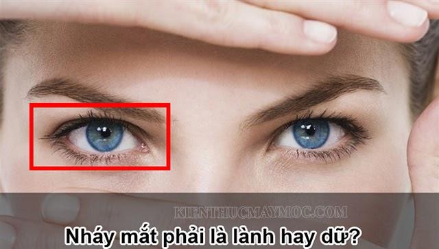 Nháy mắt phải ở nữ giới là điềm lành hay dữ?