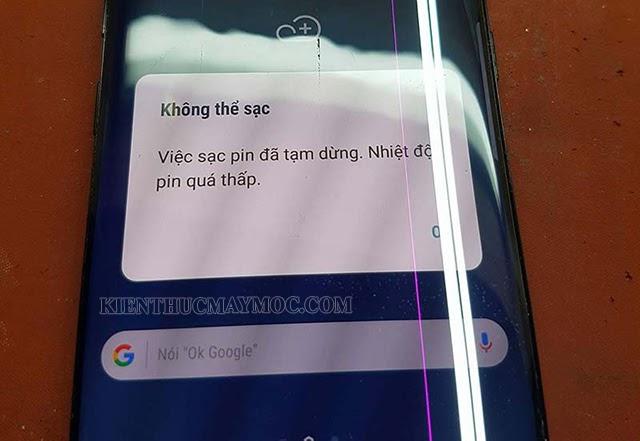 Lỗi pin và nguồn điện thoại
