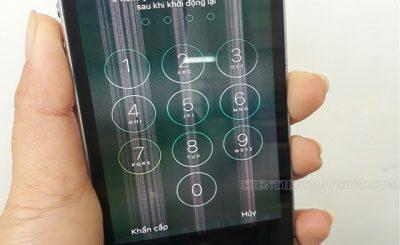 Màn hình điện thoại bị sọc đứng