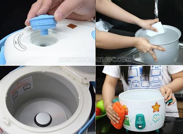 Quy trình làm sạch nồi cơm điện chuẩn nhất