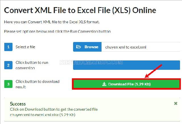 Chọn Download tiến hành tải file vừa chuyển đổi về máy
