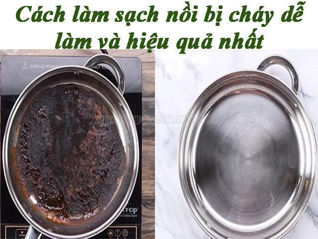 Những cách làm sạch xoong nồi bị cháy dễ làm và hiệu quả