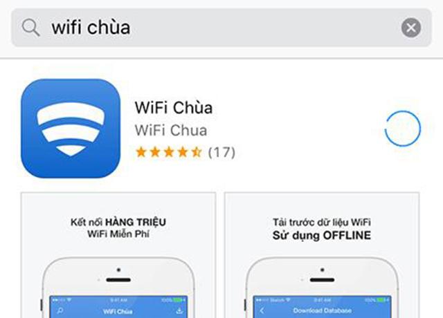 Wifi chùa là phần mềm được cài đặt nhiều trên điện thoại